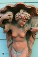 Mermaid Corbel Plinth decorative wall plaque
